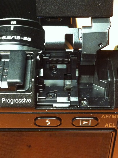 How to modify the Sony Nex 7 Compact System Camera to have a hardwire shutter release jack step 1