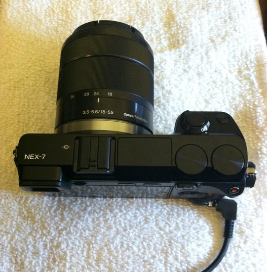 How to modify the Sony Nex 7 Compact System Camera to have a hardwire shutter release jack - a camera with the hardware modification complete