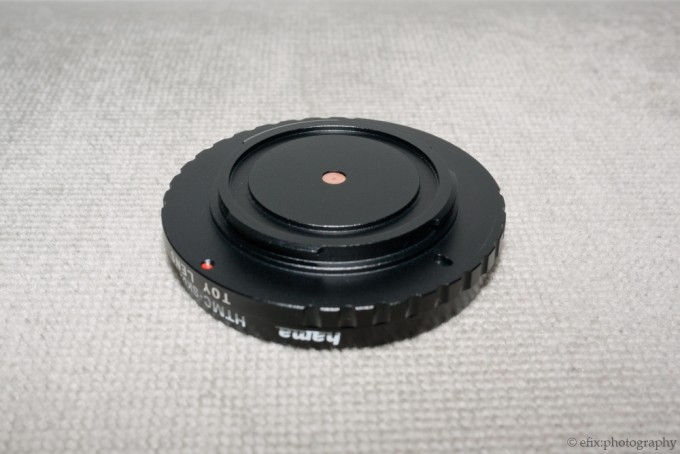 Front view of the SLR Magic Pinhole lens for Micro Four Thirds Compact System Cameras