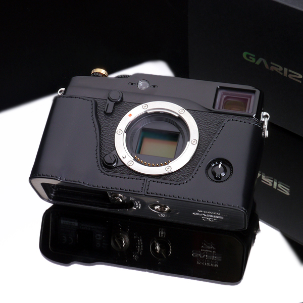 Gariz Leather Edition Half Cases for Fuji X-Pro1 Black