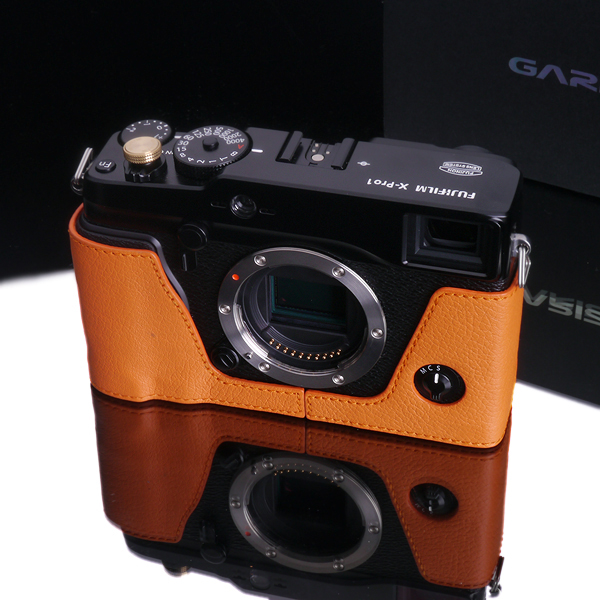 Gariz Leather Edition Half Cases for Fuji X-Pro1 Hermes Orange