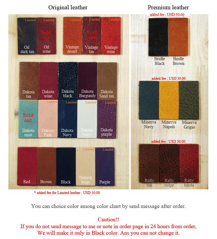Jnk half leather case color choice