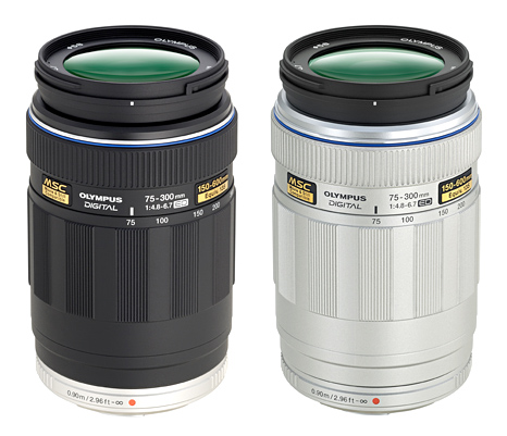 Olympus M.ZUIKO ED 75-300mm f4.8-6.7 for Micro Four Thirds Lens available in Black and Silver