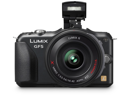 Panasonic GF5 Panasonic Compact System Camera with 14-42 X lens and integrated flash