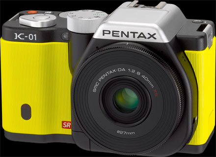 Pentax K-01 Compact System Camera Yellow Body