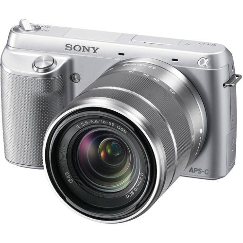 Sony Alpha Nex F3K APSC Compact System Camera Silver Pre-Order 18-55mm kit