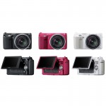 Sony Alpha NEX F3 APSC Compact System Camera available colors black pink and silver
