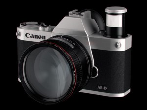 Canon concept of a compact system camera with four thirds sized sensor
