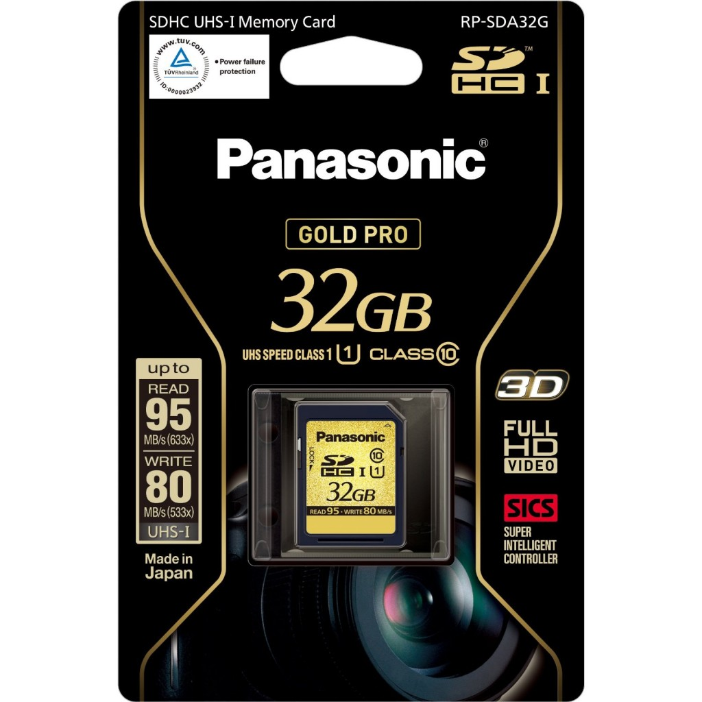 Best and Recommended SD Cards for the Sony NEX 7 , Olympus OM-D EM-5 and Fuji X-Pro1 - Panasonic Gold Pro Class 10 32GB SDHC Card