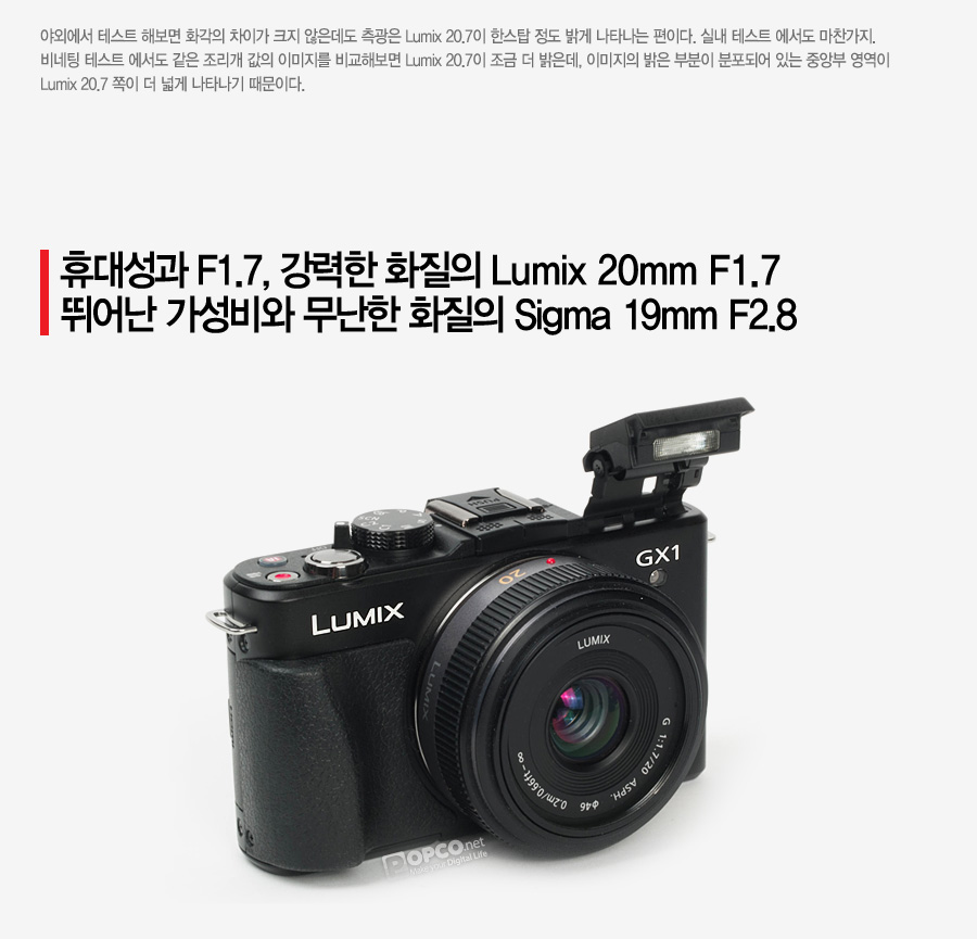 Panasonic Lumix GX1 Micro Four Thirds Compact System Camera with Panasonic 20mm F1.7 Pancake Lens