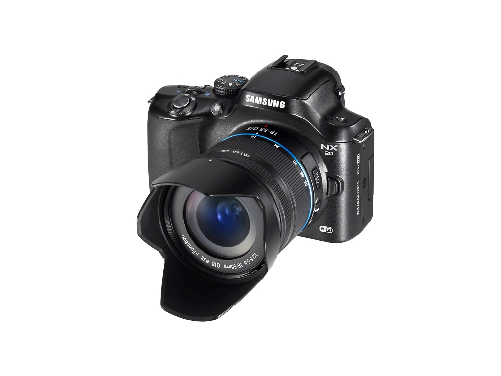 Samsung NX20 Compact System Camera with 18-55 OIS Kit Lens