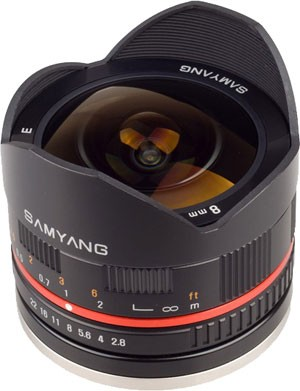 Samyang 8mm F2.8 fisheye lens for Samsung NX and Sony NEX Compact System Cameras