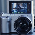 Sony NEX F3 Compact System Camera Tilting Screen