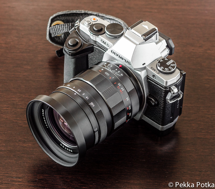 Voigtlander Nokton 17.5mm with Olympus OM-D E-M5 Micro Four Thirds Compact System Camera
