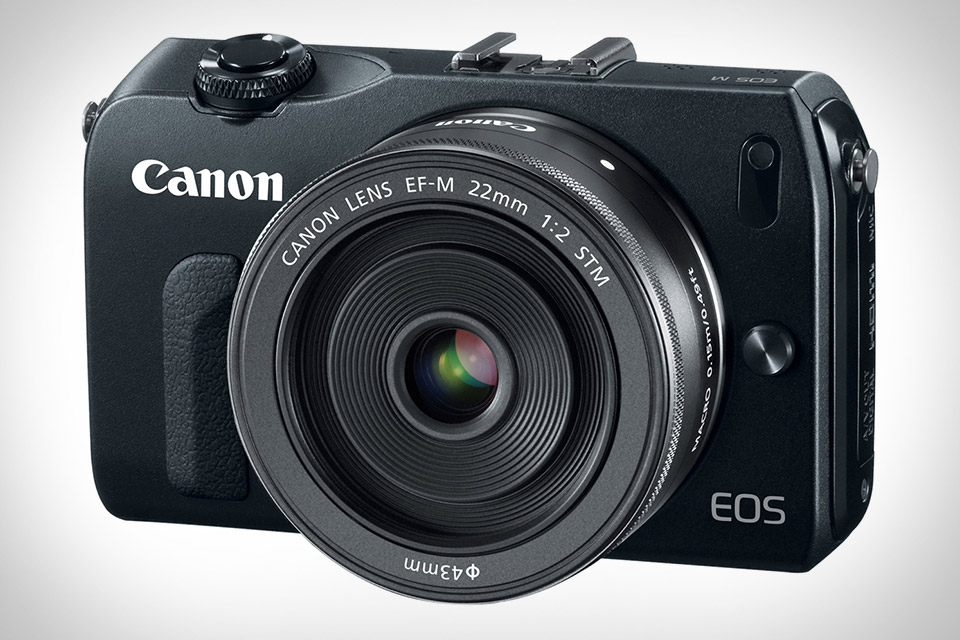 Canon EOS M Compact System Camera Black Color with EF-M 22mm Lens