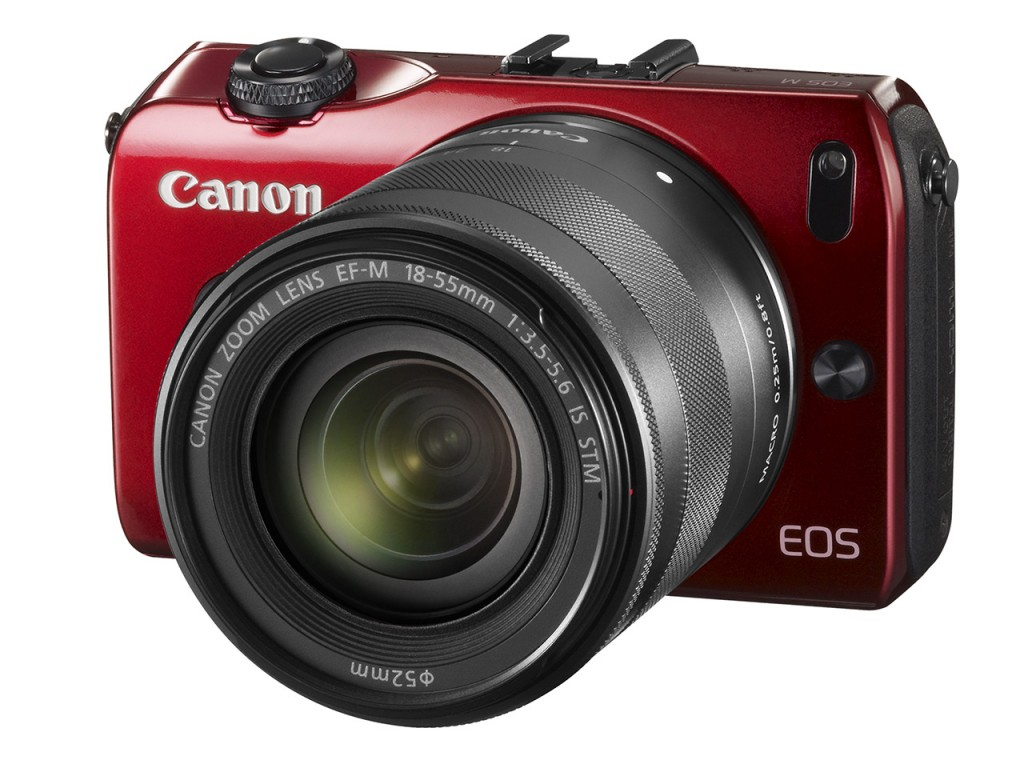 Canon EOS M Compact System Camera Red Color with EF-M 18-55mm Lens