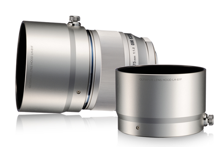 Olympus M.Zuiko Digital 75mm F1.8 Lens with Optional Lens Hood LH-61F