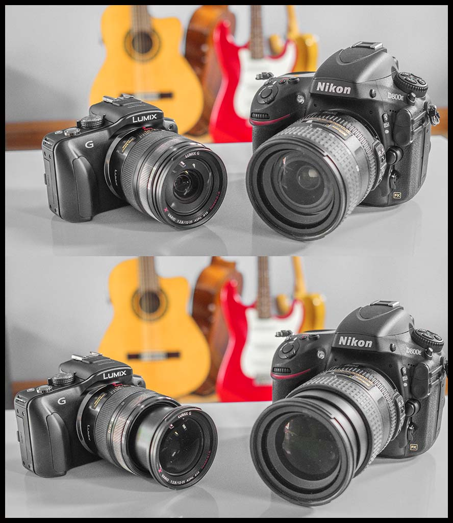Panasonic G3 with 12-35mm X Zoom Lens vs Nikon D800E with 24-85mm lens