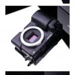 Gariz Leather Half Body Case for Sony Alpha NEX 7 Compact System Camera (Black)